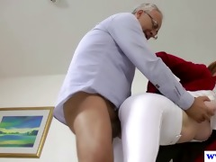 british non-professional pussyfucked by an old