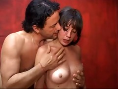 sexy brunette hair fucked and spanked