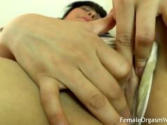 st time non-professional masturbates her large