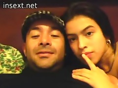 latin daddy daughter and a webcam