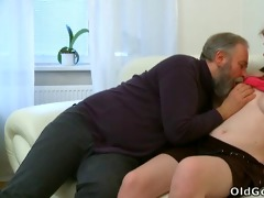 maria lets an old chap fuck her and then acquires
